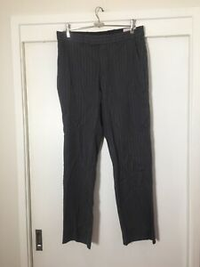 rhodes and beckett Mens Charcoal Grey Pinstriped Suit Pants Size Eur 48 W32 Inch