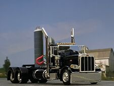 1/64 DCP BLACK PETERBILT 389 DAY CAB