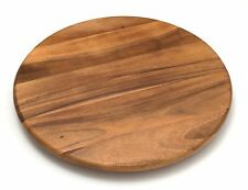 "18"" Lazy Susan Acacia Wood Storage Kitchen Dining Table Counter Pantry Shelves"