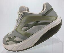 MBT M Walk Walking Shoes White Silver Mesh Comfort Toning Sneakers Womens 6.5