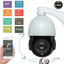 30X Zoom PTZ IP Camera 4MP Pan Tilt Outdoor Security Network P2P IR Night POE
