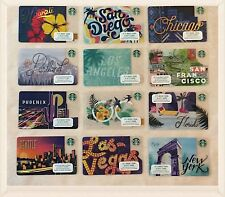 2017 Complete Set Starbucks City Cards - Hawaii, San Diego, Chicago, Seattle