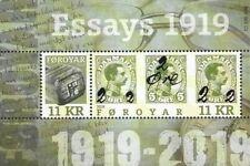 Faroer 2019  provisional stamps zegel op zegel blok    postfris/mnh