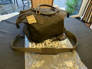 Barbour Waxed Cotton Medium Travel Exployer Bag-Olive Used Twice Ex Condition