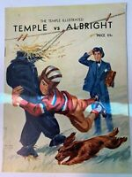 1938 Temple Owls vs Albright College Lions Football Program GOOD+ Condition