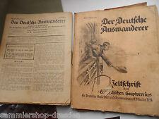 Verband Ev Auswandererfürsorge: 12x Der Deutsche Auswanderer Zeitschrift 1929-34