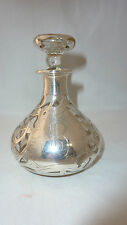 Large Art Nouveau Sterling Overlay Perfume Bottle