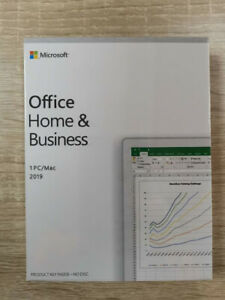Genuine Microsoft Office 2019 Home and Business Key For windows - Lifetime / DVD