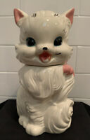 Vintage Antique Fluffy the Cat American Bisque Cookie Jar USA 1950s