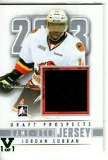 2012-13 In The Game Draft Prospects Game Used Jersey M-15 Jordan Subban #1of1