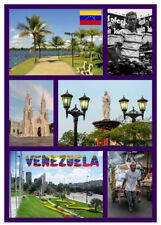 VENEZUELA, SOUTH AMERICA - SOUVENIR NOVELTY FRIDGE MAGNET, SIGHTS / FLAGS / NEW