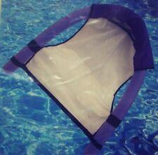 Swimming Pool Noodle Hammock Float Seat Purple & White Mesh Set of 2 Summer New