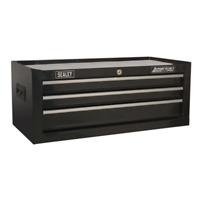 AP223B Sealey Mid-Box 3 Drawer with Ball Bearing Slides - Black Tool Chests