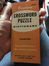 Vintage 1957 Dennison Crossword Puzzle Dictionary Pocket Size
