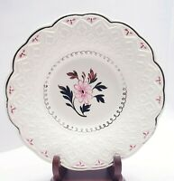 Wedgwood of Etruria & Barlaston Set of 6 Salad Plates White Pink Platinum