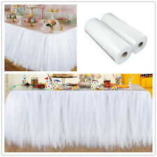 100 Yards Tulle Roll DIY Craft White Tulle Rolls Spool Wedding Event Party Decor
