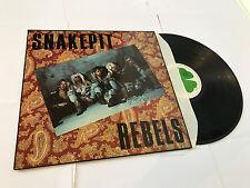 SNAKEPIT REBELS S/T LP VINYL Swedish Four Leaf 1991 12 Track (Flc5114) NMINT/NM