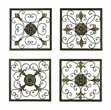 Aspire Metal Wall Plaque Set In Antique Bronze Finish Set of Four, 91561 New