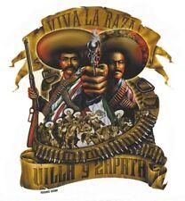ULTRA RARE Viva La Raza MEXICAN CHICA Villa Y Zapata VINYL STICKER/CAR DECAL