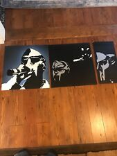 Original Mf Doom Reggae Art PAINTING Artist Taeoalli 2006 17/100