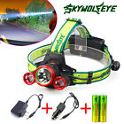 30000LM CREE XML T6 Rechargeable Led Headlamp Headlight +2X18650 Battery+Charger