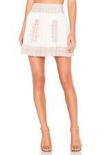 new nwt Joie Womens Shandon Skirt Porcelain/Pale Peach Skirt Sz 10 embroidered