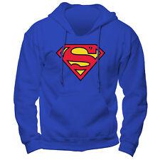 Superman Hooded Sweatshirt Hoody Hoodie Jumper Logo L