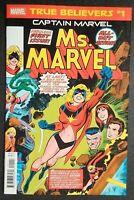 Captain Marvel TRUE BELIEVERS CAPTAIN MARVEL MS MARVEL #1 REPRINT