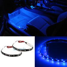 2Pcs Blue LED Interior Strip Footwell Light For Ford Falcon AU BA BF XT XR6 XR8