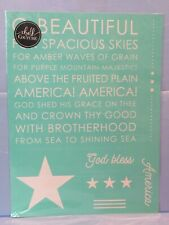 Chalk Couture STARS & STRIPES Transfer God Bless America Beautiful 4th of July