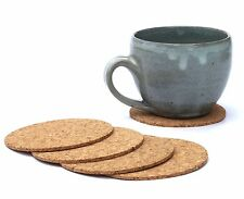 6pcs Cup Mat Cork Tea Coffee Drink Coasters Round Made in Portugal