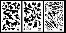 "3Pack! Vinyl Airbrush Spray Paint Camo Stencils 14"" Stripe Digital - Army - Tacs"