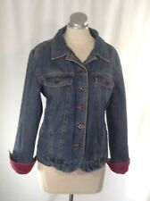 LL Bean Woman's Lined Jean Jacket Sz Large Reg. 100% Cotton