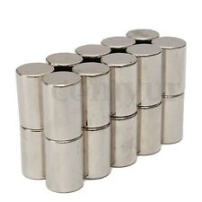 20pcs Strong Round Cylinder N50 Magnets 10x15mm Industrial Rare Earth Neodymium