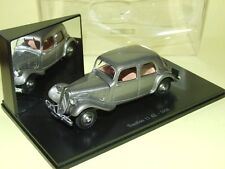 CITROEN TRACTION 11 AL Gris 1936 ATLAS Boite vitrine 1:43