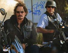 Kim Coates & David Labrava Signed Sons of Anarchy 11x14 Photo PSA/DNA COA Auto'd