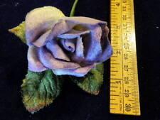 "Millinery Flower Velvet Purple Rose 2"" for Boutonniere Hat Wedding or Hair KM3B"
