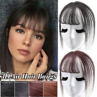 3D 6 Inch Short Fake Hair Bangs Girls Women Hair Pieces Invisible Seamless Wig g