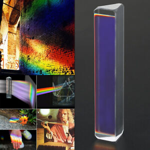 Optical Glass Triple Triangular Prism Physics Refractor Light Spectrum