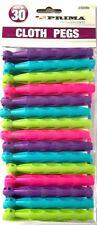 Prima Housewares 30 Plastic Dolly Pegs Washing Line Coloured Laundry Peg