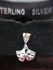 STERLING SILVER THESPIAN PENDANT - GREAT FOR THOSE IN THE PERFORMING ARTS - NEW