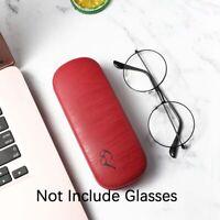 Fashion Wood Grain Hard Metal Reading Glasses Case for Women Men Leather ay