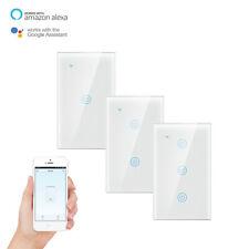 Smart Switch Wall Light WiFi Remote For Alexa & Google IFTTT Control 1/2/3 Gang