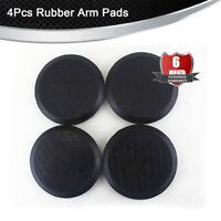 4Pcs 125mm Rubber Auto Lift Hoist Arm Pads Black Round Durable
