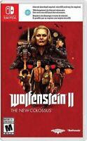 Wolfenstein II: The New Colossus (Nintendo Switch, 2018) NEW NIB