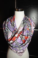 NEW $295 LIBERTY OF LONDON Art-Nouveau Style IANTE Print 100% Silk Scarf 34x34""