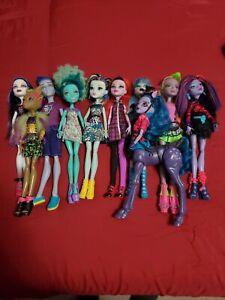 Mattel Monster High Doll Lot of 10