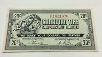 1962 Canadian Tire 20 Cents CTC-7-D Almost Uncirculated Money Banknote D124