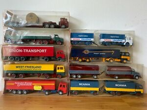 Vintage Wiking Germany HO 1/87 Gauge Models 9x Trucks New old stock in boxes