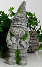 Garden Gnome Elf Statue Heavy Cement Concrete Garden Yard Decoration Ornament